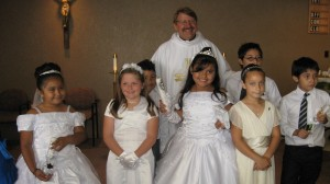 The first First Communion class of <a href=