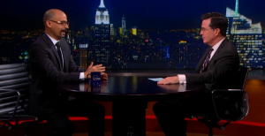 Freedom University board member and award-winning writer Junot Diaz spars with comedian Stephen Colbert over the education of undocumented students.