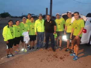 Runners who inaugurated the first-ever Alamo To Border Ultra Marathon Relay