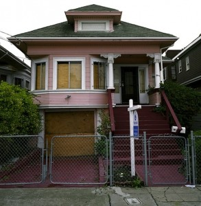 An Oakland foreclosure photographed in 2008.