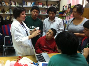 Maria Cuella, in charge of Bus ConCiencia, brings science to students via her mobile science laboratory.