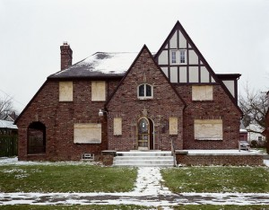A vacant house in Detroit, where decades of economic decline and population loss have produced about 90,000 abandoned homes.