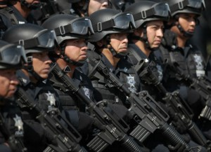 Members of the federal police participate in a ceremony to mark Federal Police Day in Mexico City June 2, 2011 (Jorge Lopez/Courtesy Reuters).