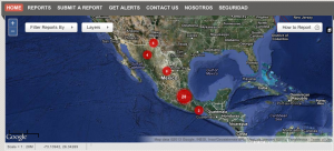 Newly launched digital map allows anonymous tips as to where the latest attacks against journalists and bloggers have occurred in Mexico.