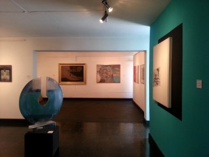 Interior of Guatemala's El Attico art gallery.