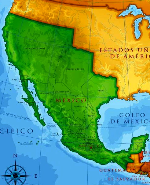 The Conveniently Forgotten War Between Mexico And The United - Mexico map before us invasion