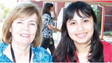 (From left to right) ESOL Professor Diane Runkle and her student Daniela Rodriguez