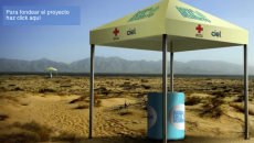 Cooling stations in the Sonora and Chihuahua deserts hold refrigerated bottled water for migrants on their way to the U.S.