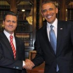 Mexico&#039;s President Enrique Pea Nieto welcomes President Obama.
