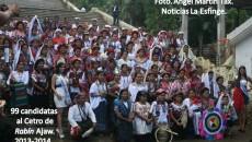 The 2013 delegation of Rabín Ajaw hopefuls in Cobán, Leonel Chacón, Guatemala