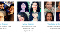 Latina bloggers who won the opportunity to be part of the American Latino Expedition
