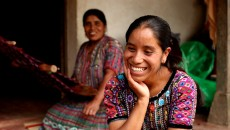 21-year-old Rosa always dreamt of being a nurse, but was forced to drop out of school in sixth grade. Five years ago she took out a small loan of $20 to start a weaving business and now uses the profits to fund her nursing studies'.