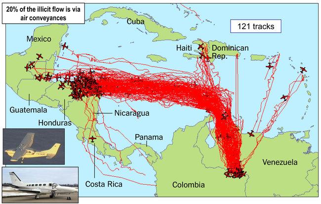 venezuela-drug-trafficking-routes