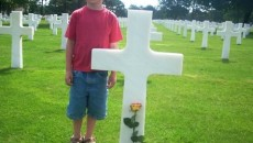 7-year-old Malo Le Nagard and his family adopted the gravesite of Laredo fallen soldier Hector Molina.