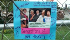 Local residents and activists placed memorials around the demolition site, calling attention to the building's importance to Latino history.