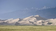 The Great Sand Dunes. Some are as high as 750 feet, the highest in the world.