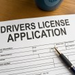 Drivers license application copy
