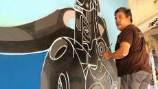 The Master. @dozegreen hard at work on his piece at #marinestadium in #Miami. -- @lalaarts, Daniel Lahoda