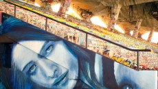 A huge thanks to @arthistory2014 and @loganhicskny for getting me involved in this fundraising project at Miami Marine Stadium. They will be selling prints of this work and other great artists at www.arthistory2014.com #rone #marinestadium #miamistreetart -- @r_o_n_e, Rone