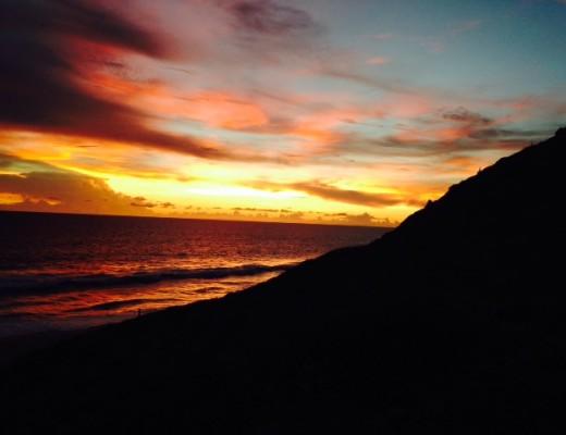 sbeach sunset