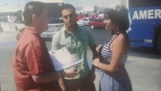 Civil Court Judge Mike Herrera performed a wedding ceremony for Antonio Villegas and Esther Chavez in 2011 on the U.S. Mexico border on the the Santa Fe Bridge between El Paso and Juarez. Villegas is standing on the Mexico side and Chavez is on the U.S. side.
