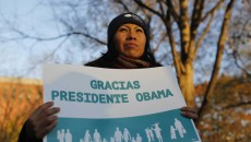 Immigrants Rally To Thank Obama