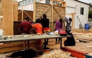 One of six university teams building their sustainable home in the Construye Solar competition.