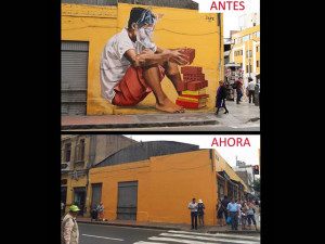 Some of Lima's street art is disappearing due to a 1994 law.