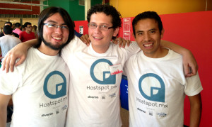 L-R: Edgar Hernandez Vilchis, Abraham Cornejo and Alberto Garcia. The founding team of Hostspot.