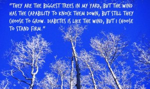 The caption on this image was written by a child who was asked to describe what it means to live with diabetes. (Credit: Razzu Engen/Flickr)