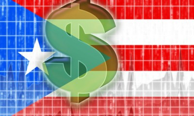 Flag of Puerto Rico, national country symbol illustration finance economy dollar