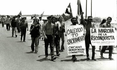 Participants-in-the-Chicano-Movement-march-in-Los-Angeles.-Courtesy-photo.