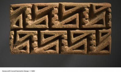 Stamp with carved geometric design 1-1600.   Los Angeles County Museum of Art, the Muñoz Kramer Collection,