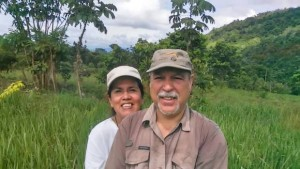 Amazon Rainforest's newest conservationists Isabel and her husband Jose Enrique.